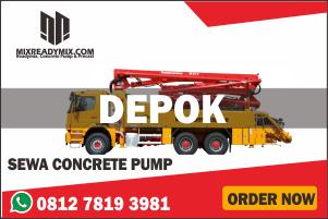 sewa pompa beton rental concrete pump depok